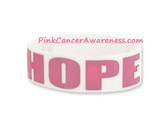 Hope Rubber Band Bracelet for Caner Awareness White 1PIECE