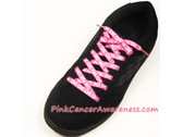 Pink Breast Cancer Awareness Ribbon Shoe Laces 1PAIR