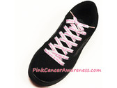 Hope Courage Faith Strength Text Cancer Awareness ShoeLace 1PAIR