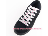 Pink Ribbon Logo Symbol Cancer Awareness ShoeLaces 1PAIR