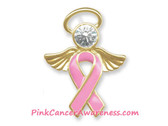 Angel Pink Ribbon Breast Cancer Awareness Tac Pin, 1PIECE