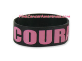 Courage Rubber Band Bracelet for Caner Awareness Black 1PIECE