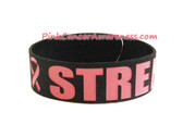 StrengthRubber Band Bracelet for Caner Awareness Black 1PIECE