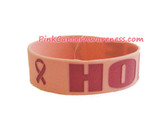 Pink Hope Rubber Band Bracelet for Breast Caner Awareness1PC