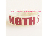 Strength Band Bracelet for Breast Caner Awareness White 1PIECE