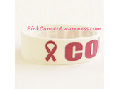 Courage Band Bracelet for Breast Caner Awareness White 1PIECE