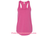 Satin Jersey Ladies' Shirttail Tank - Azalea