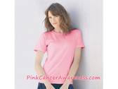 Pink Womens ComfortSoft cotton T-Shirt