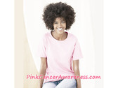 Light Pink Women's T-Shirt with ScoopNeck