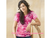 Pink Women's Camouflage Tshirt