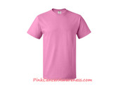 Azalea Pink Cotton Basic T-Shirt for Men