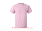 Light Pink Cotton Basic T-Shirt for Men