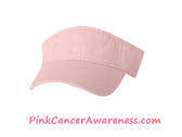 Light Pink 100% Cotton Chino Twill Visor wtih Velcro