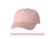 Light Pink 100% Cotton light-weight 6panel Cap