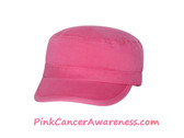 Bright Pink 100% Cotton Newsboy Cap