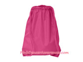 Hot Pink Drawstring Backpack