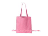 Pink Recycled Tote Bag