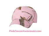 Light Pink Real-tree Design Camouflage Cap
