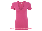 Ladies' Karen Short Sleeve V-Neck T-Shirt - Azalea