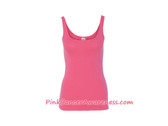 Bright Pink Ladies' 1x1 Baby Rib Tank Top