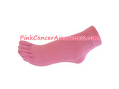 Pink Cancer Awareness Ankle Toe Socks