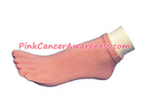 Light Pink Cancer Awareness No Show Toe Socks