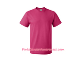 Hot Pink Cotton Basic T-Shirt for Men