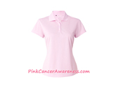 Light Pink Adidas Golf Ladies' ClimaLite Basic Polo