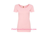 Light Pink Ladies' Organic Scoopneck T-Shirt