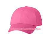 Bright Pink Cotton Twill Cap