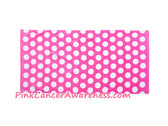 Bright Pink Polka Dot Velour Beach Towel