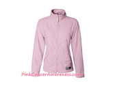 Light Pink Ladies' Lightweight Microfleece Full-Zip Jacket