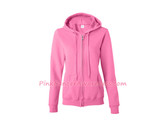 Azalea Pink Heavy Blend Missy Fit Full-Zip Hooded Sweatshirt