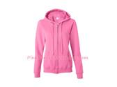 Azalea Pink Heavy Blend Missy Fit Full-Zip Hooded Sweatshirt