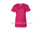 Hot Pink Ladies Ultra Cotton T-Shirt