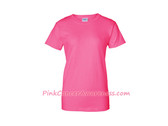 Neon Pink Ladies Ultra Cotton T-Shirt