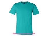 Teal Unisex Short Sleeve Jersey T-Shirt