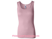 Womens 2X1 Rib Tank Top - Soft Pink