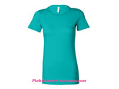 Teal Ladies' Short Sleeve Jersey T-Shirt