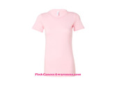 Light Pink Ladies' Short Sleeve Jersey T-Shirt