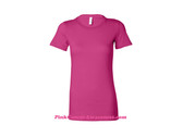Hot Pink Ladies' Short Sleeve Jersey T-Shirt