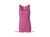 Very Pink Ladies' Sheer Mini Rib Tank Top