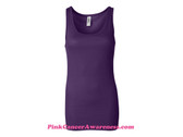 Purple Ladies' Sheer Mini Rib Tank Top