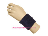 Dark Purple Athletic 2.5 inch Youth Sport Sweat Wristband