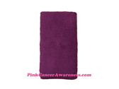 Purple 6 inch Long Terry Sweat Wristband