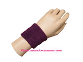 Purple Cheap 2.5 inch Wrist Band, 1PC