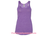 Ladies' Meegs Eco-Jersey Racerback Tank - Eco True Purple