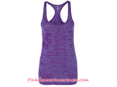 Ladies' Racerback Burnout Tank Top - Purple