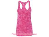 Ladies' Racerback Burnout Tank Top - Shocking Pink