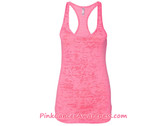 Ladies' Racerback Burnout Tank Top - Neon Pink